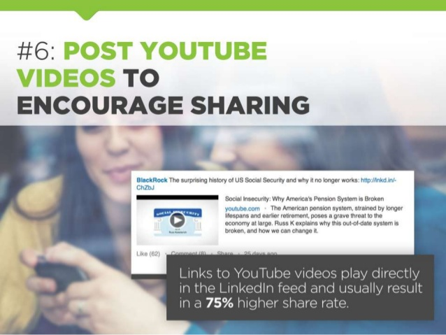 youtube compelling content on linkedin