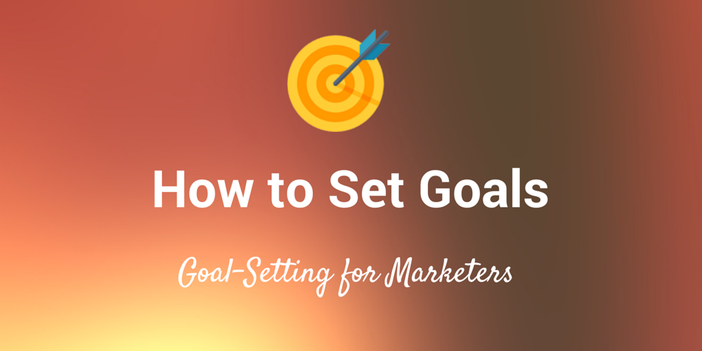 how to set marketing goals