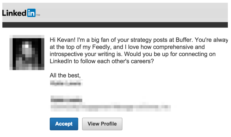 kevan request linkedin