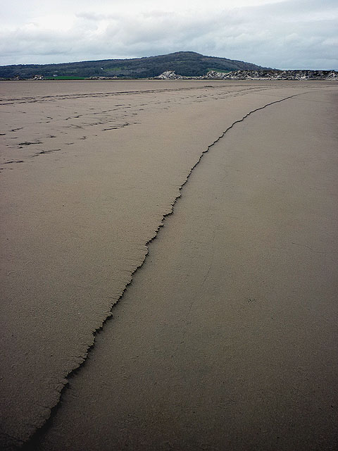 a line in the sand on Warton Beach, Australia. Symbolizes establishing a baseline before you assess your website's power and influence.