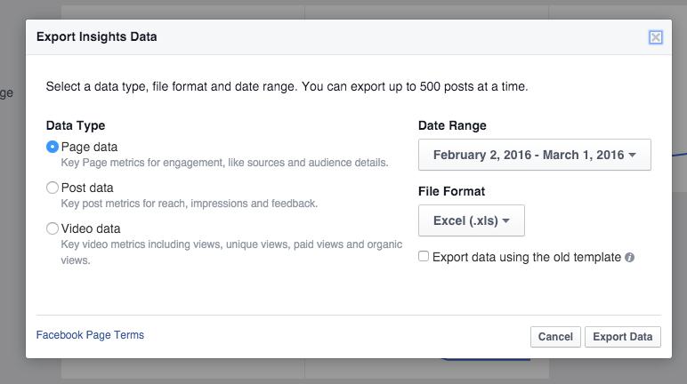 Facebook Analytics Export