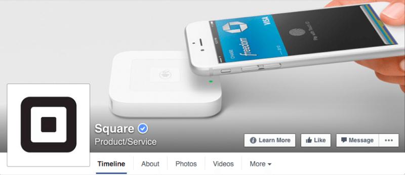 Facebook, Facebook pages, Square