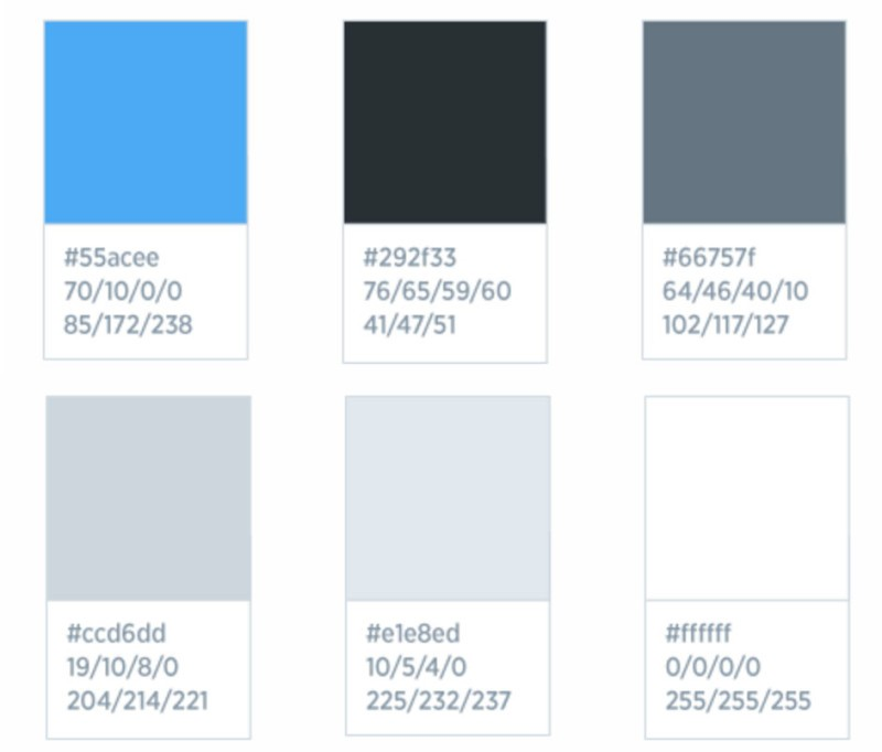 twitter brand colors