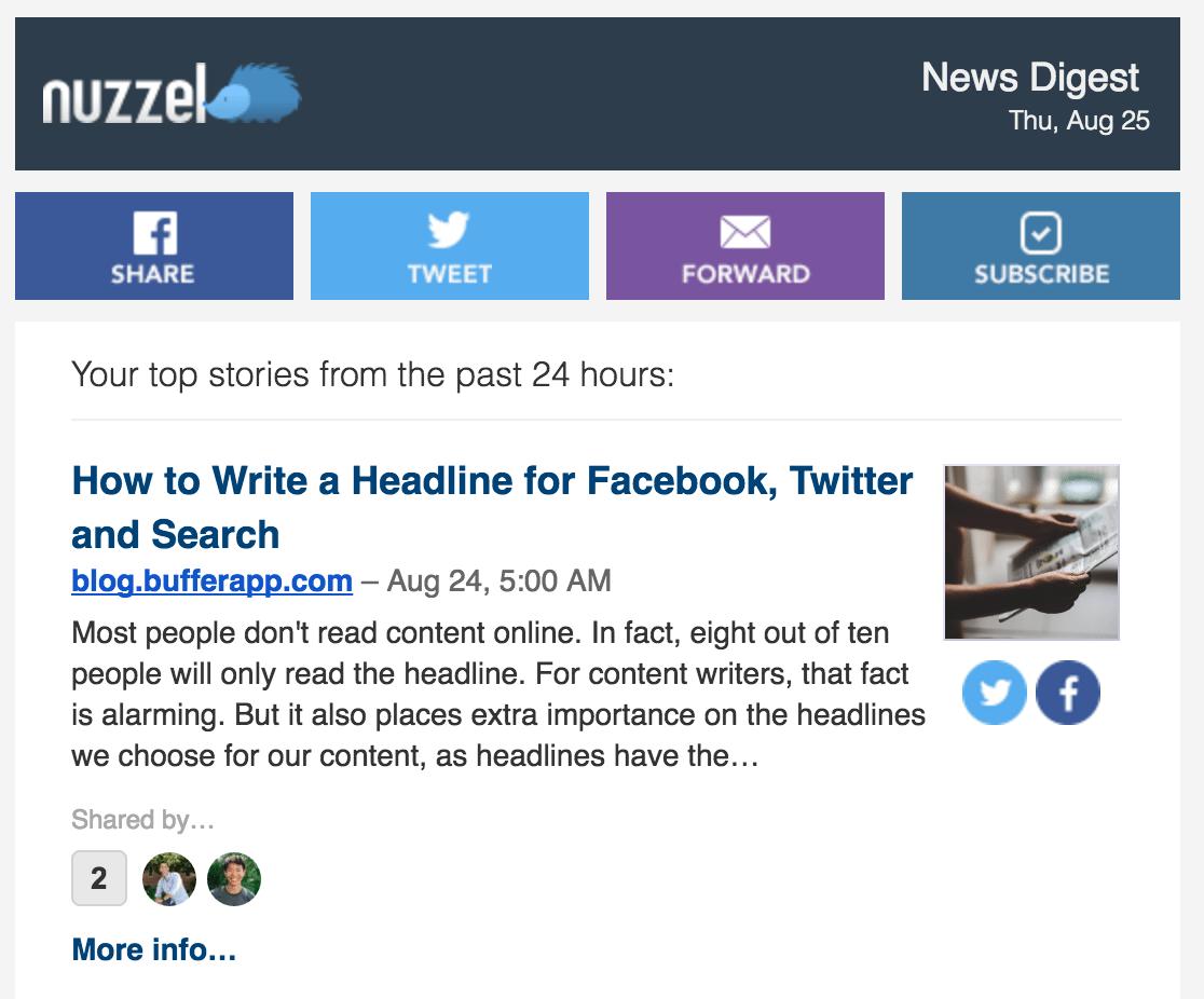 Nuzzel screenshot