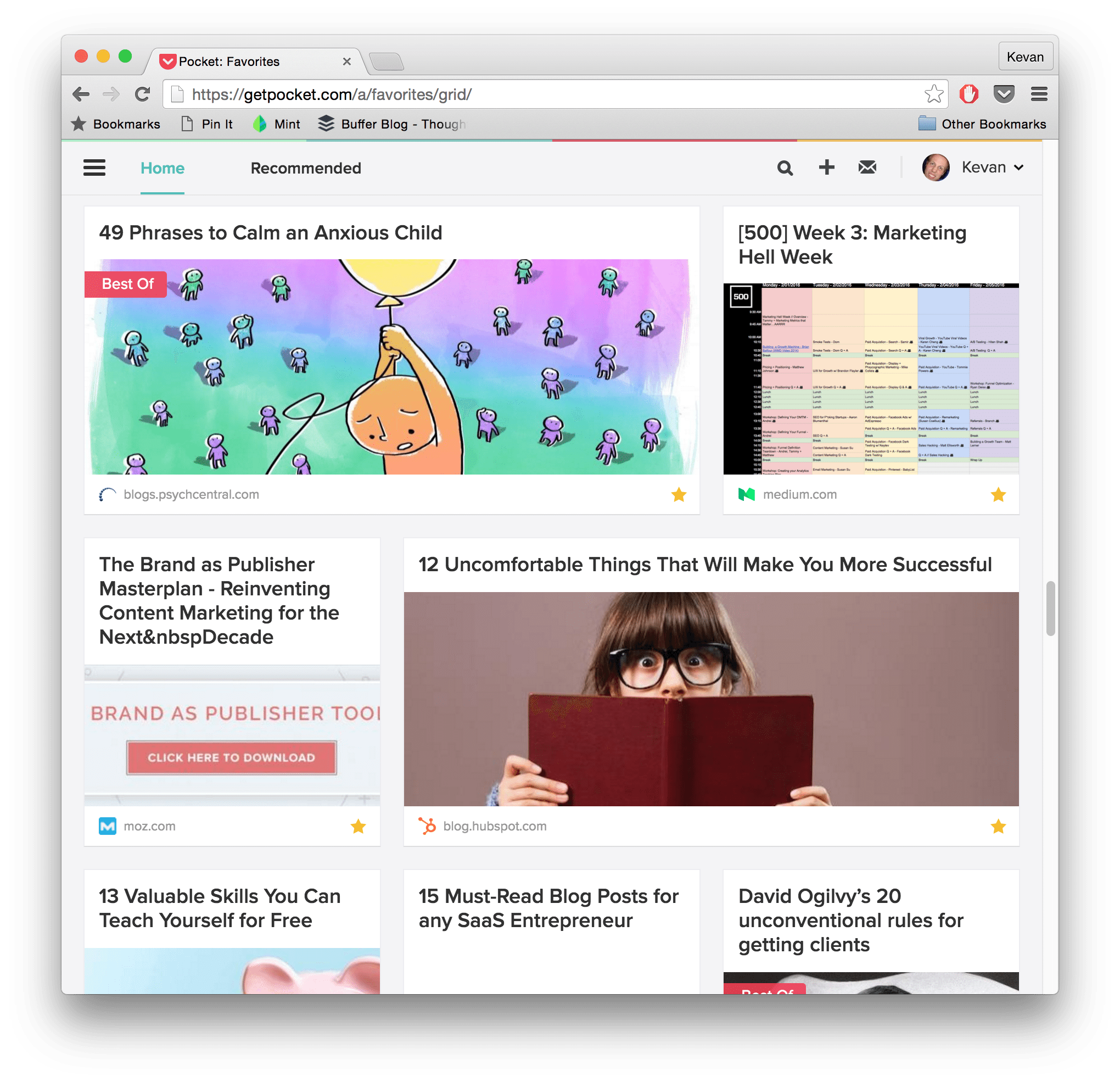 pocket for read it later curated stories